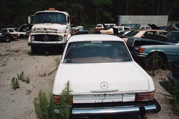 Mercedes benz ponton mini summit and parts quest june 17 for Mercedes benz scrap yard