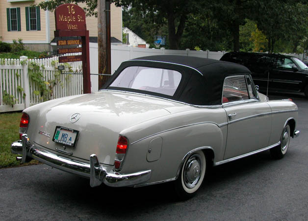 1960 mercedes benz type 220se cabriolet for sale for Mercedes benz gas type