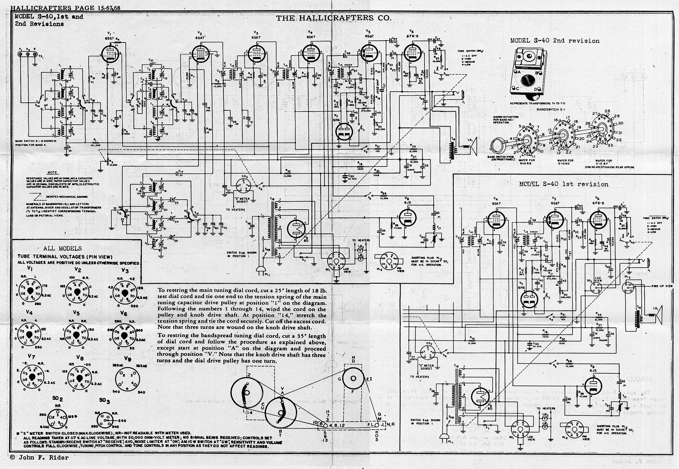 Vintage Radio Schematics on vintage philco radio diagrams