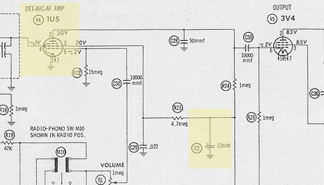 Zenith B600 Schematic