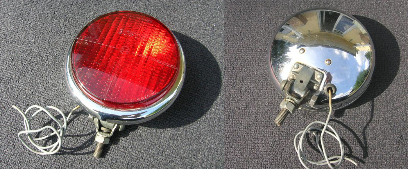 Mercedes Benz Ponton Fog Lamps And Bulb Types Bumper Clear Lights With Switch Wiring Replacement Ebay Bosch Rear Lamp