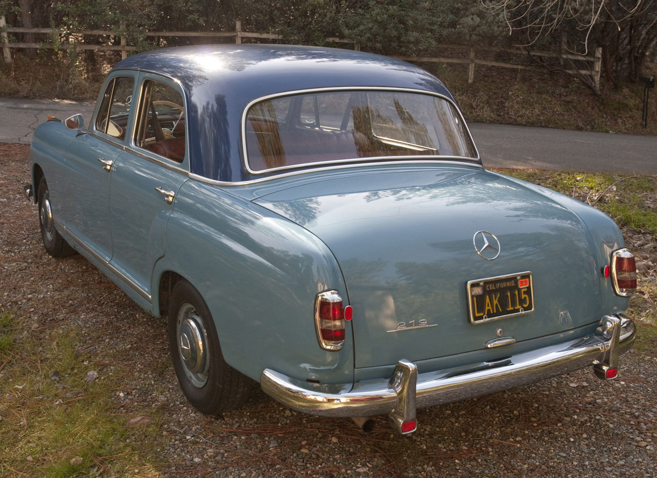 Robert and anne hall 39 s 1959 mercedes benz type 219 ponton for 1959 mercedes benz