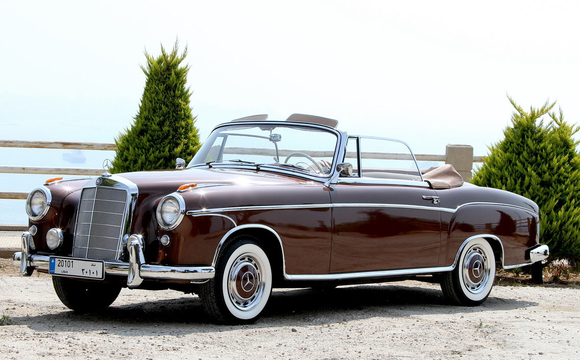 Raffoul traboulsy 39 s 1957 mercedes benz type 220s cabriolet for Mercedes benz 220s for sale