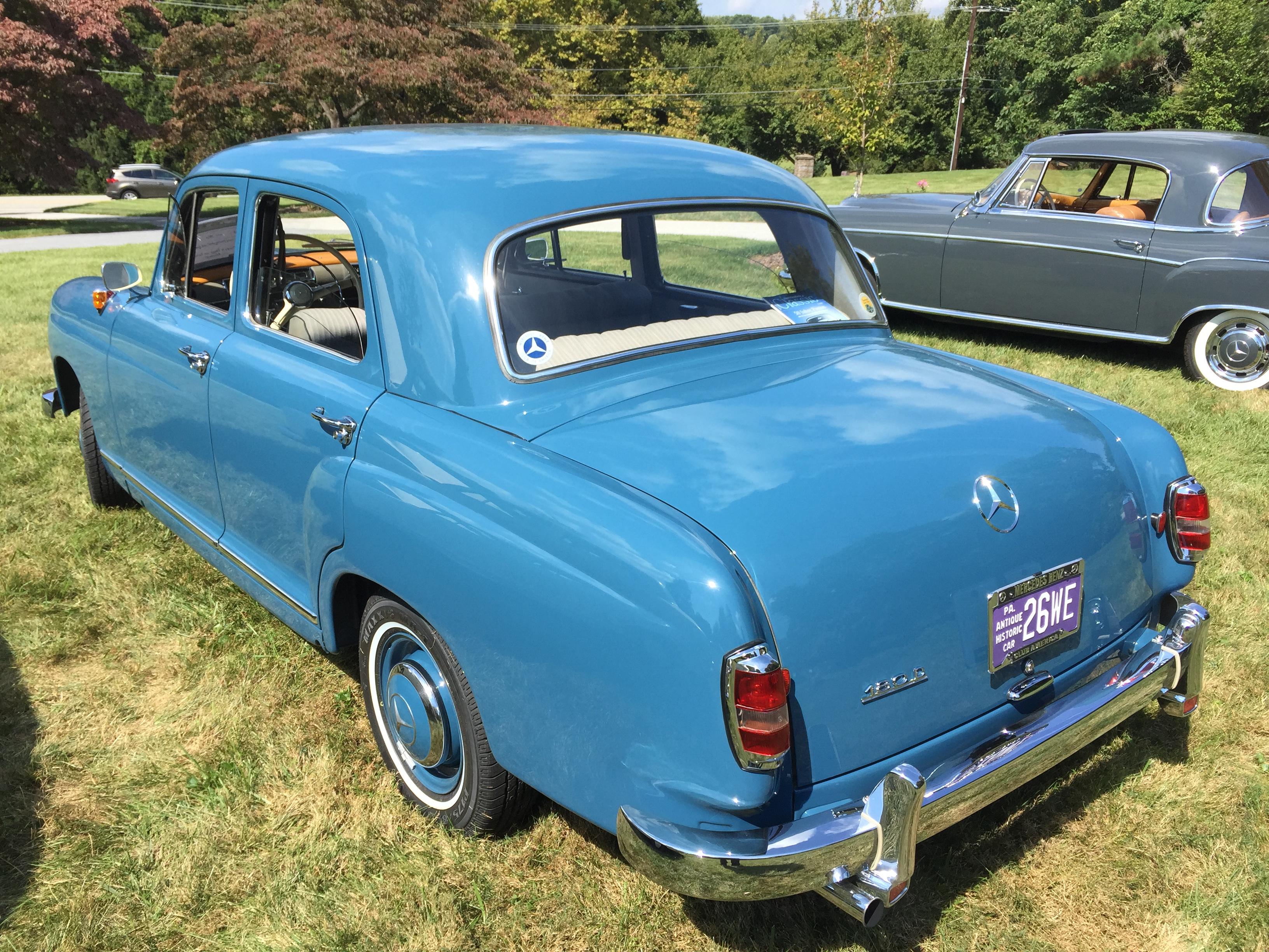 Mardy von harten 39 s 1958 mercedes benz 180d ponton sedan for Mercedes benz 180d for sale