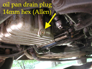 remove oil pan
