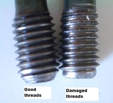 How to repair a damaged thread